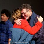 Jack White and Dr. Barbara Reynolds reunite at Harvard's Niemen Fellow's Function in Boston, MA